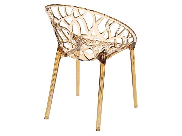 Krzesło Coral bursztynowe Wysokość 80 cm Pomieszczenie Salon Głębokość 60 cm Szerokość 59 cm Styl Industrialny