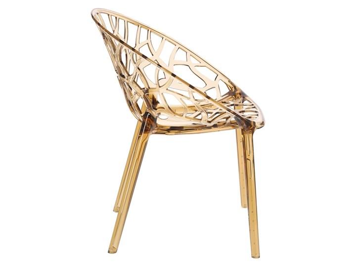 Krzesło Coral bursztynowe Wysokość 80 cm Szerokość 59 cm Głębokość 60 cm Pomieszczenie Salon