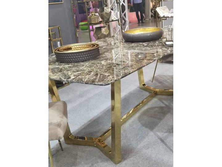 Stół ROSETA GLAMUR Marmur Złoto 200 x 100 Stal Długość 200 cm  Szerokość 100 cm Wysokość 75 cm Kolor Biały