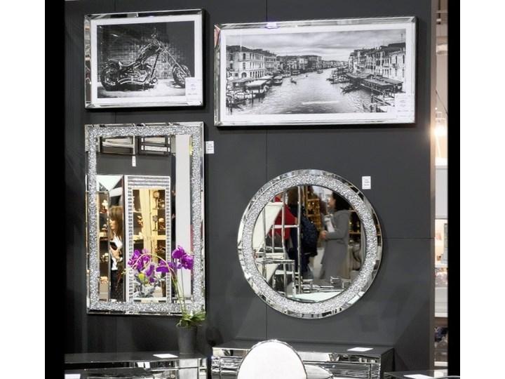 Lustro z kryształkami Angelitta II Glamur Ścienne Okrągłe Lustro bez ramy Pomieszczenie Salon