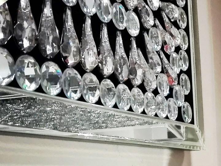 Lustro z  kryształkami Careo Cristall Pomieszczenie Salon Prostokątne Lustro bez ramy Ścienne Pomieszczenie Sypialnia