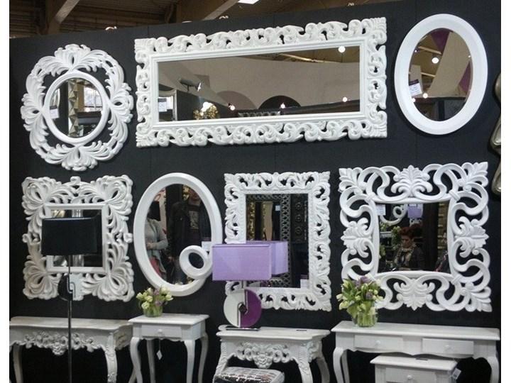 Lustro białe glamur Barocco 58 Prostokątne Lustro z ramą Ścienne Pomieszczenie Salon