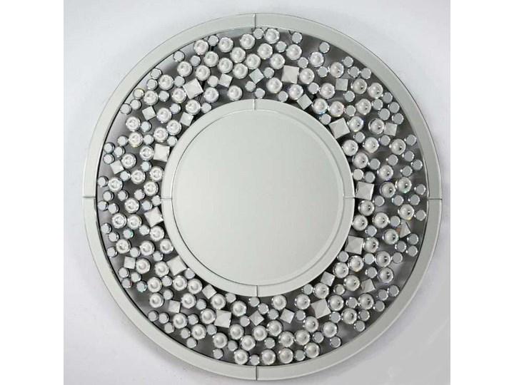 Lustro z kryształkami Angelitta Cristall okrągłe Lustro bez ramy Ścienne Pomieszczenie Salon Kolor Srebrny