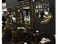 Lustro CLEO GLAMUR GOLD RING Lustro z ramą Okrągłe Ścienne Kategoria Lustra Pomieszczenie Salon