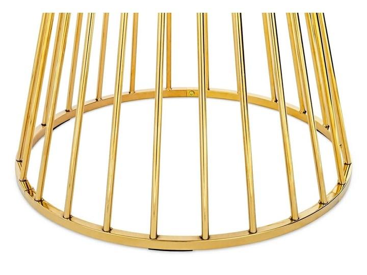 Stół GLAM MARBLE - MDF, złota podstawa Metal Płyta MDF Wysokość 75 cm Długość 100 cm Styl Glamour Marmur Pomieszczenie Stoły do jadalni
