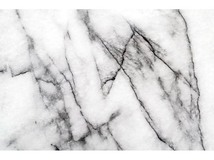 Stół GLAM MARBLE - MDF, złota podstawa Wysokość 75 cm Metal Styl Nowoczesny Długość 100 cm Płyta MDF Marmur Kolor Biały