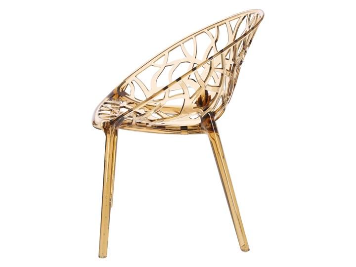 Krzesło Coral bursztynowe Głębokość 60 cm Szerokość 59 cm Wysokość 80 cm Styl Industrialny