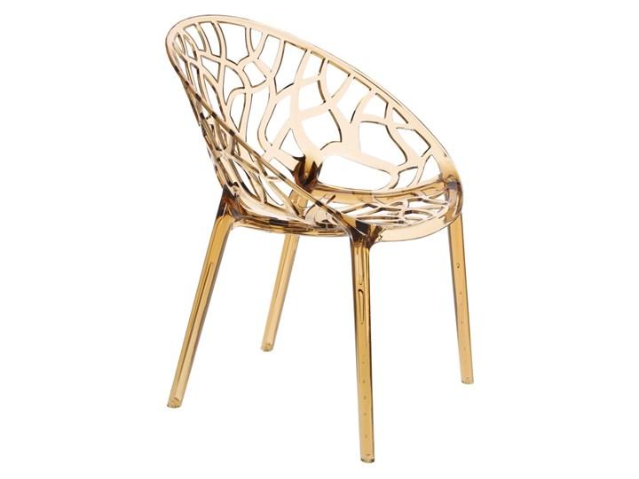 Krzesło Coral bursztynowe Kategoria Krzesła kuchenne Wysokość 80 cm Szerokość 59 cm Głębokość 60 cm Pomieszczenie Jadalnia