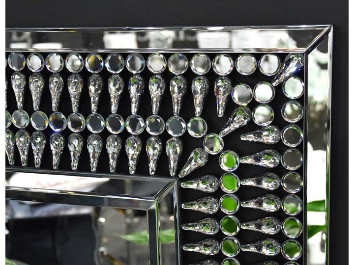 Lustro z  kryształkami Careo Cristall Kolor Srebrny Ścienne Prostokątne Lustro bez ramy Styl Nowoczesny