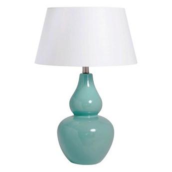 Ceramiczna lampa stołowa KANDY z białym abażurem