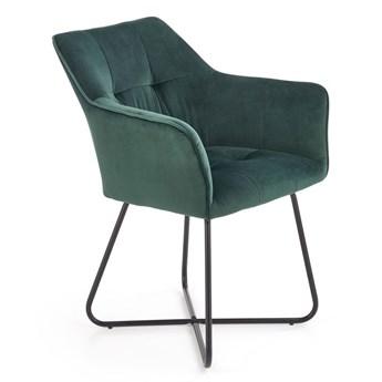 Nowoczesne krzesło muszelka Roxi - zielony