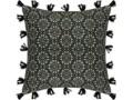 Poszewka na poduszkę z frędzlami, 40 x 40 cm Kwadratowe 40x40 cm Poszewka dekoracyjna Kategoria Poduszki i poszewki dekoracyjne Kolor Zielony