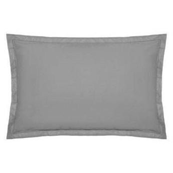 Poszewka na poduszkę z bawełny, 50 x 70 cm, szara