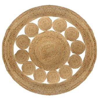 Dywan dekoracyjny z juty, Ø 120 cm, okrągły