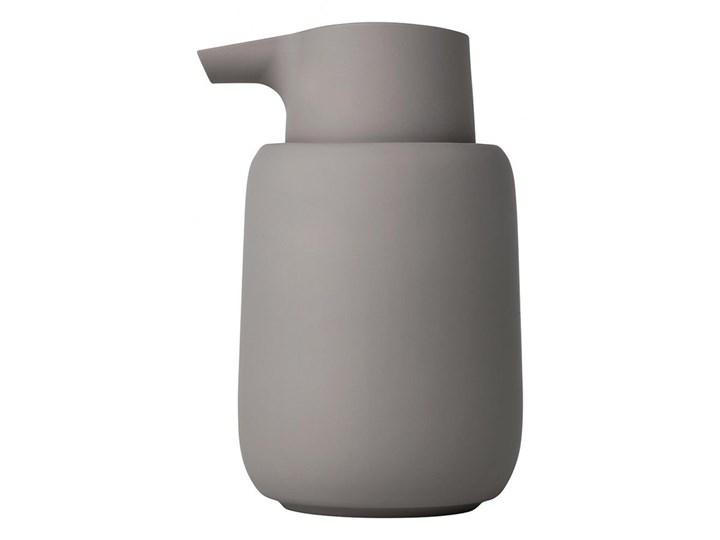 Ciemnoszary dozownik do mydła Blomus Sono, 250 ml Dozowniki Ceramika Silikon Tworzywo sztuczne Kategoria Mydelniczki i dozowniki