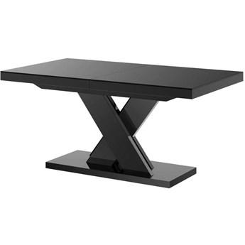Stół rozkładany XENON LUX 160-256 cm czarny połysk - Meb24.pl