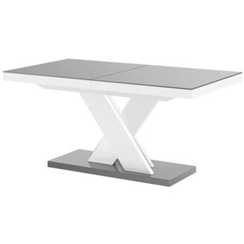 Stół rozkładany XENON LUX 160-256 szaro-biały - Meb24.pl