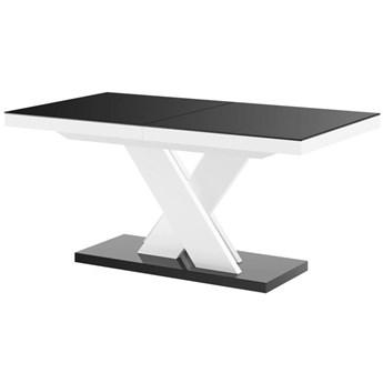 Stół rozkładany XENON LUX 160-256 czarno-biały - Meb24.pl