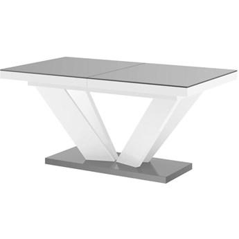 Stół rozkładany VIVA 2 160-256 szaro-biały połysk - Meb24.pl