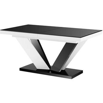 Stół rozkładany VIVA 2 czarno-biały mix połysk - Meb24.pl