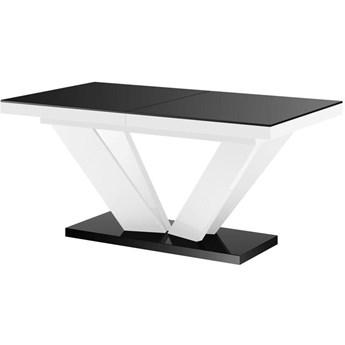 Stół rozkładany VIVA 2 czarno-biały połysk - Meb24.pl