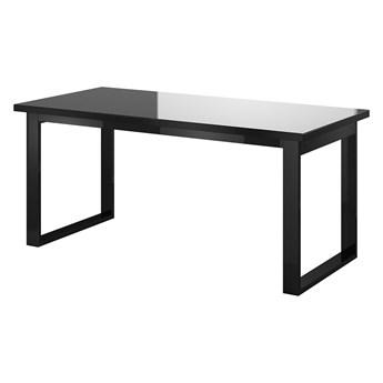 Stół rozkładany HELIO HE92 czarny / czarne szkło