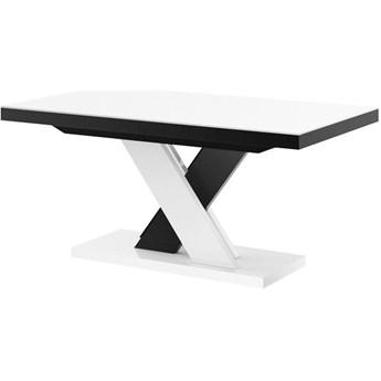 Stół rozkładany XENON LUX 160-256 cm biało-czarny mix - Meb24.pl
