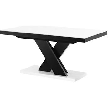 Stół rozkładany XENON LUX 160-256 cm biało-czarny - Meb24.pl
