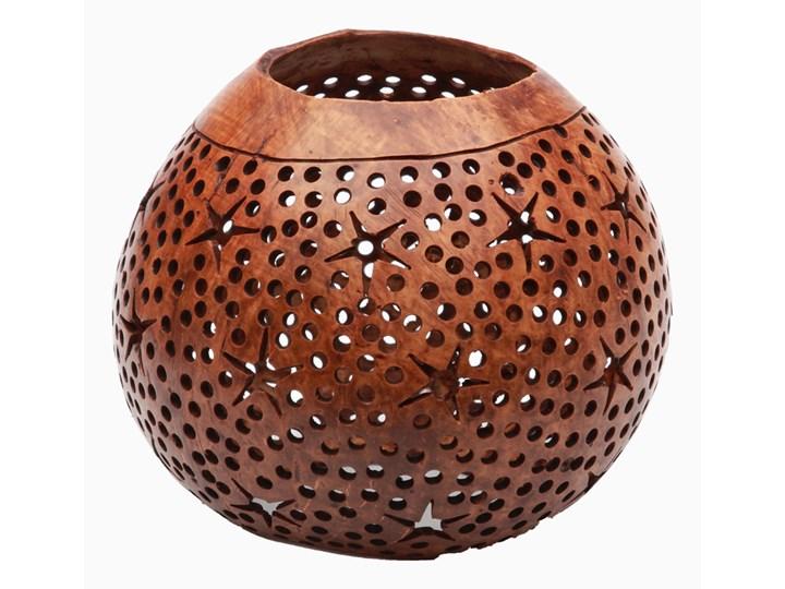 Świecznik z kokosa Gwiazdki Zestaw 2