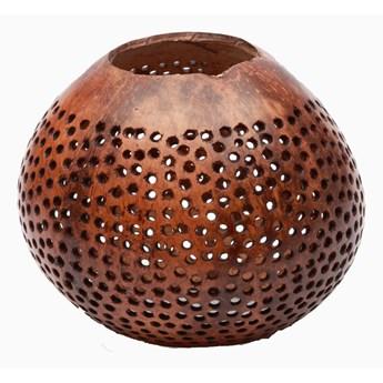 Świecznik z kokosa Kropki Zestaw 2