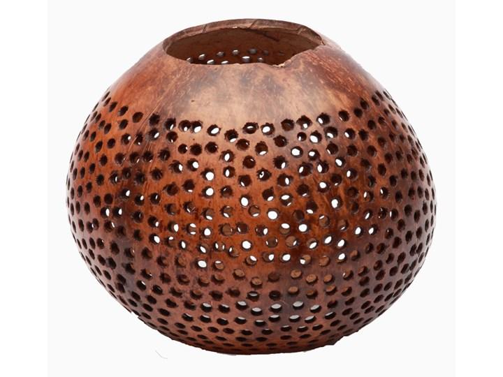 Świecznik z kokosa Kropki Zestaw 2 Kategoria Świeczniki i świece Kolor Brązowy