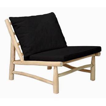Fotel ogrodowy Island Czarny Drewno tekowe