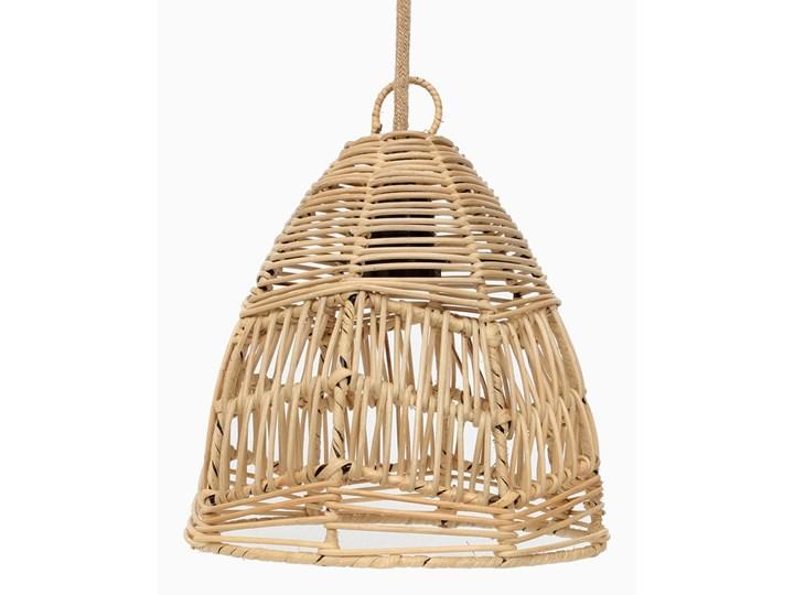 Ratanowa wisząca lampa Bala Naturalna Mała Ilość źródeł światła 1 źródło Lampa z abażurem Wiklina Kategoria Lampy wiszące