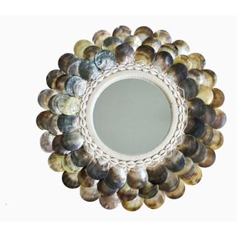 Okrągłe lustro z muszli