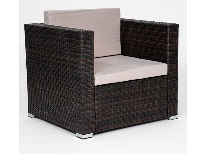 MEBLE OGRODOWE Z TECHNORATTANU RODOS (FC-1026) BRĄZOWY Zestawy wypoczynkowe Zawartość zestawu Stół Zawartość zestawu Fotele