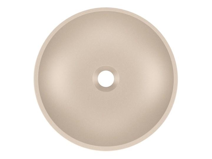 Umywalka nablatowa MAUN 40 Caffe latte Szerokość 40 cm Kamień naturalny Okrągłe Nablatowe Kategoria Umywalki