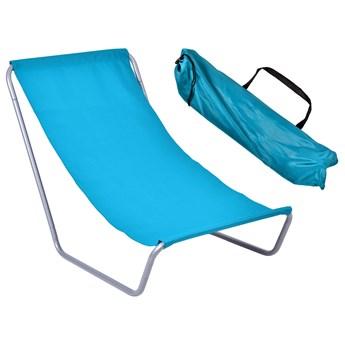 Leżak turystyczny plażowy składany Olek - niebieski