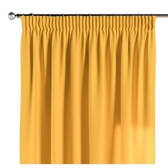 Zasłona na taśmie marszczącej 1 szt., żółty, 1szt 130 × 260 cm, Loneta