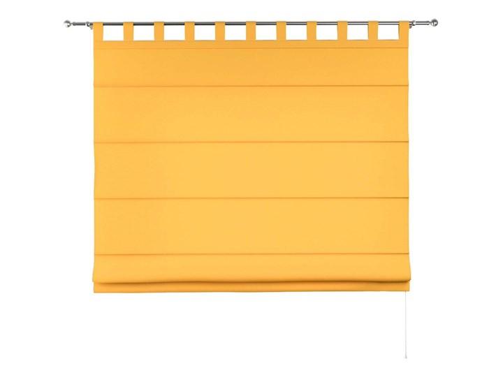 Roleta rzymska Verona, żółty, szer.80 × dł.170 cm, Loneta Pomieszczenie Sypialnia Wzór Gładkie
