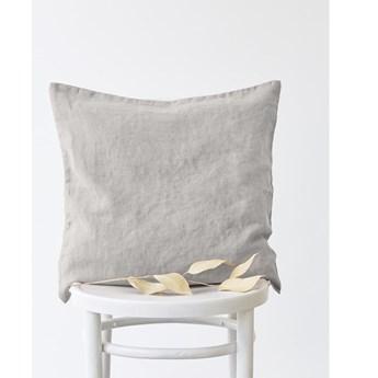 Srebrnoszara lniana poszewka na poduszkę Linen Tales, 50x50cm