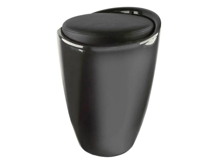 Kosz / pufa na bieliznę czarna Tworzywo sztuczne Kolor Czarny