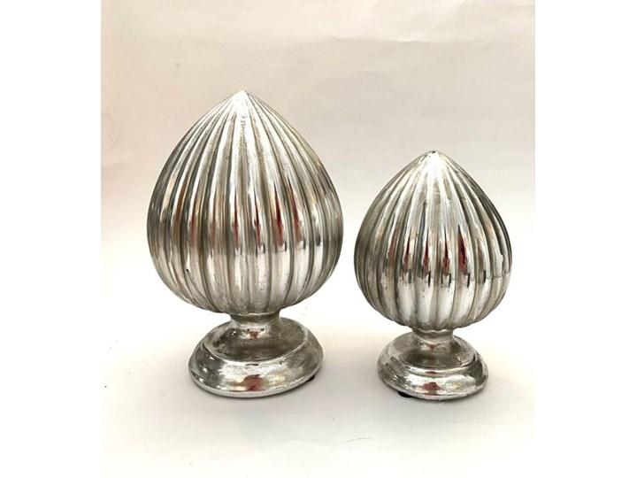 FIGURKA DEKORACYJNA SREBRNA NA NÓŻCE PIK WYBIERZ ROZMIAR M 21x13 Ceramika Kategoria Figury i rzeźby