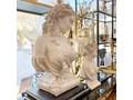 POPIERSIE DEKORACYJNE BIAŁE DECORATIVE BUST NO 3 30x19x49h Kamień Tworzywo sztuczne Kolor Biały