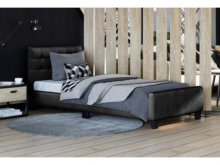 ŁÓŻKO TAPICEROWANE 90X200 SF942 WELUR CZARNY Tkanina Drewno Kategoria Łóżka do sypialni