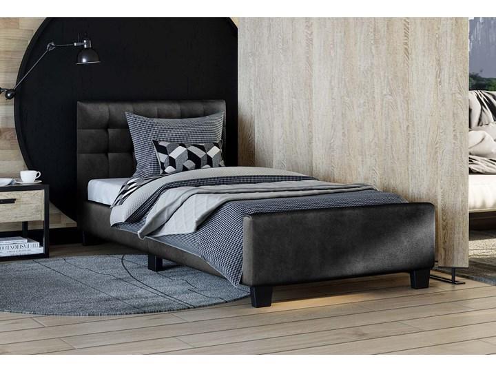 ŁÓŻKO TAPICEROWANE 90X200 SF942 WELUR CZARNY Kategoria Łóżka do sypialni Tkanina Drewno Rozmiar materaca 90x200 cm