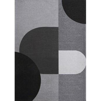 Dywan RENE GREY szary czarny nowoczesny łatwoczyszczący