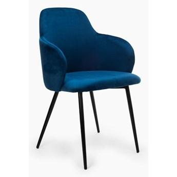 Krzesło Madryt granatowe siedzisko/czarna podstawa