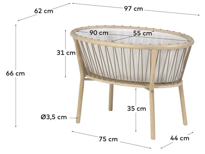 Kosz Mojżesza dla niemowląt Leonela 97x62 cm naturalny Kosze Mojżesza Płyta MDF Drewno Kategoria