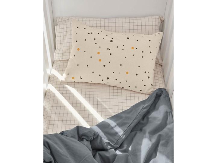 Pościel Alay 60x120 cm biało-szara Wzór Kratka Komplet pościeli Bawełna Kategoria Komplety pościeli