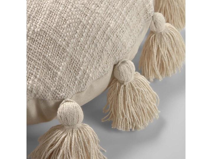 Poszewka dekoracyjna Chiarina Ø45 cm beżowa Bawełna Okrągłe Kategoria Poduszki i poszewki dekoracyjne Kolor Biały